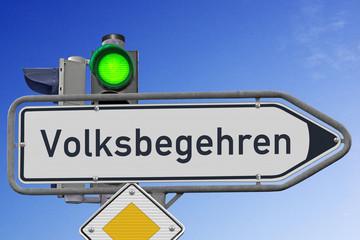 """Signal grün für das """"Volksbegehren"""""""