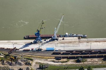 Vukovar port from the air