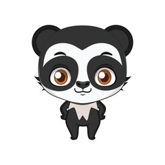 Cute stylized cartoon spectacled bear illustration ( for fun educational purposes, illustrations etc. )