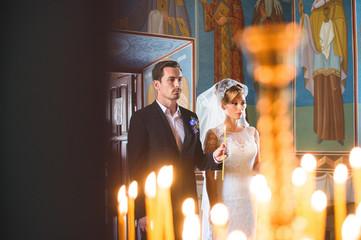 Couple at Wedding Church Ceremony
