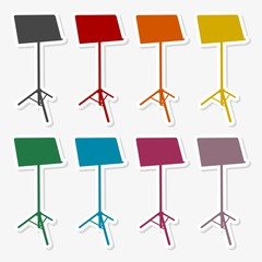Music Stand Vector Silhouette - Illustration
