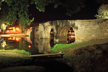 Old roman bridge, Navaluenga, Avila, Spain
