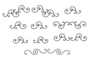 Swirl collection for design vector