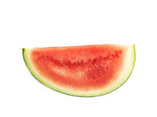 Single watermelon slice isolated