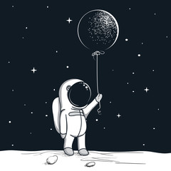adventure astronaut on the moon