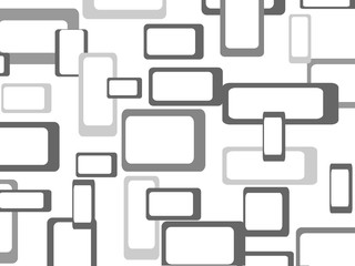 Retro seamless pattern background with squares - rounded. Vector illustration.
