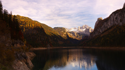 Gosau lake in autumn. Austria