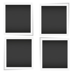 Photo frame polaroid with shadow on isolate background, vector EPS10