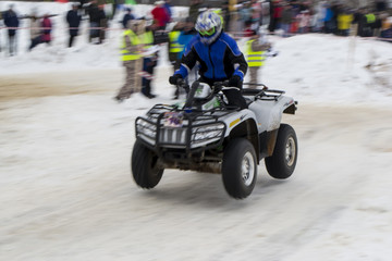 winter racing ATV