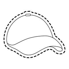 baseball hat icon image vector illustration design