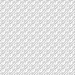 Repeating abstract background with chaotic strokes. Seamless pattern. Vector illustration.