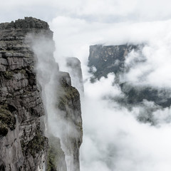 Kukenan tepui in the clouds - Venezuela, Latin America