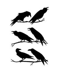 Hand drawn ravens