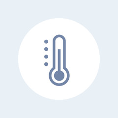 Thermometer icon isolated over white