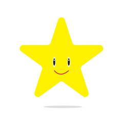 star cartoon isolated vector
