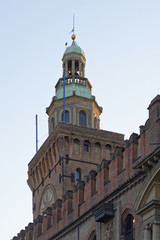 Bologna, Italy, detail of palazzo comunale