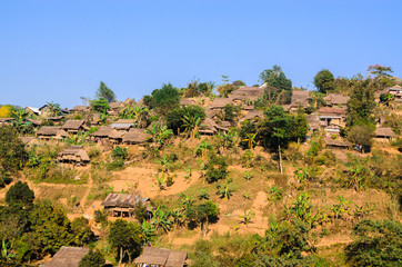 Myanmar refugee camp in Tak Province Thailand
