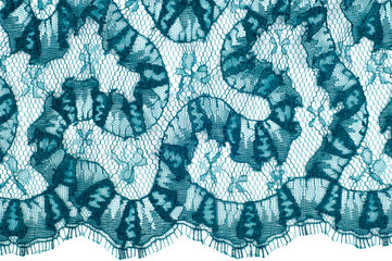 lace fabric texture. background. Isolated on white background. green