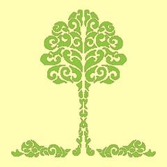 Decorative tree pixel art style/decorative tree pixel art style,yellow background