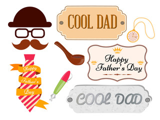 Set of greeting cards and posters happy father's day