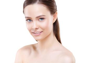 Young woman beauty face portrait