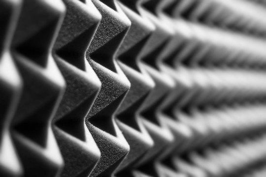 Sound insulation walls black and white