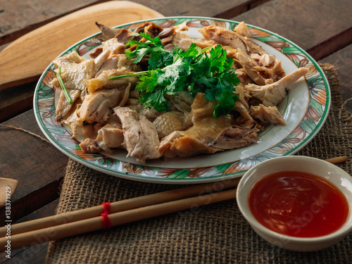 Vintage style thai traditional food chicken boiled with for Antique thai cuisine