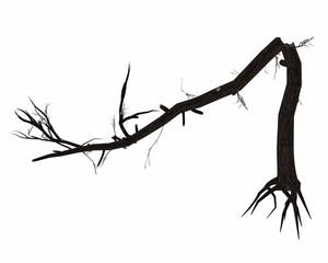 Dead broken tree trunk - 3D render