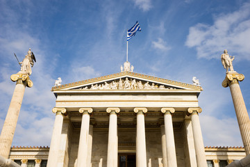 Printed kitchen splashbacks Building of the modern Academy of Athens