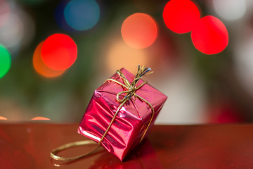 Small Present Wrapped in Red