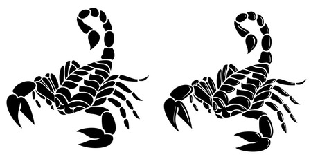 scorpion tattoo vector design