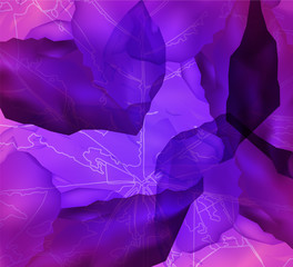 Abstract background. Leaf veins. Ice cubes. Fresh banner. Violet and pink tones.