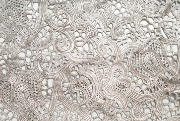 the texture of the skin with embossed floral pattern