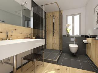 Lieblich Klein Raffiniert Modern Bad Badezimmer Duschbad Minibad
