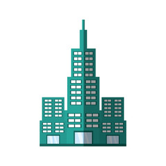 building modern structure shadow vector illustration eps 10