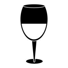 glass cup wine drink pictogram vector illustration eps 10