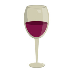 glass cup wine drink vector illustration eps 10