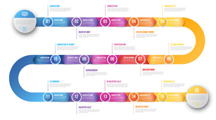 Infographics arrow timeline hystory template