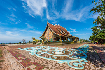 Temple Wat Sirindhorn (Phu Prao Temple) in Ubon Ratchathani,Thailand, The public temple of buddhism. no restrict in copy or use