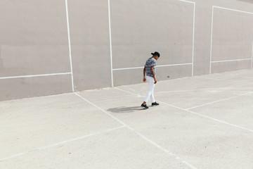 Man walking on concrete