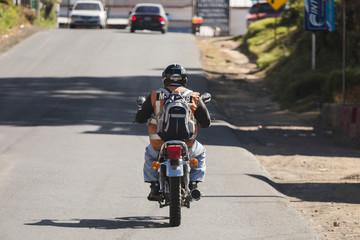 Guatemalan Motorcyclist