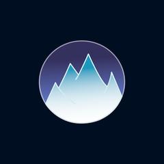 Mountains logo design. Dark blue background