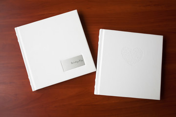 Photo books with a cover of genuine leathe