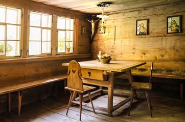 Stillleben einer Bauernstube aus Arvenholz, Emmental, Bern, Shnweiz