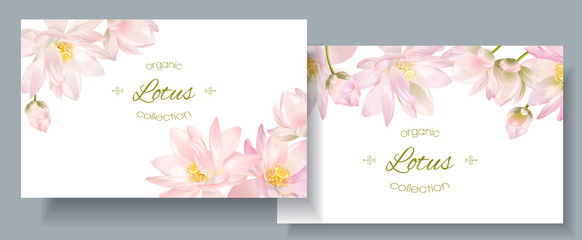 Lotus flower banners