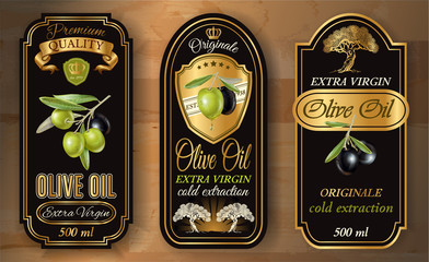 Oilve oil labels