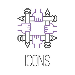 art icon vector illustration design linear artistic pictogram button crafts graphic collection thin symbol icon collection web line flat
