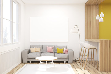 Living room with picture in a studio