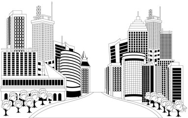 Illustratin of downtown skyline