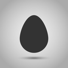 Easter Egg flat lay icon with shadow.